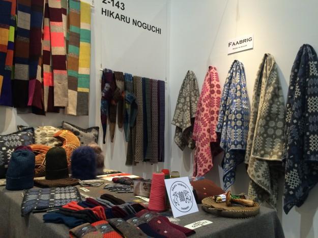 「インテリア ライフスタイル TOKYO」という展示会での「hikaru noguchi」の新作ブース。