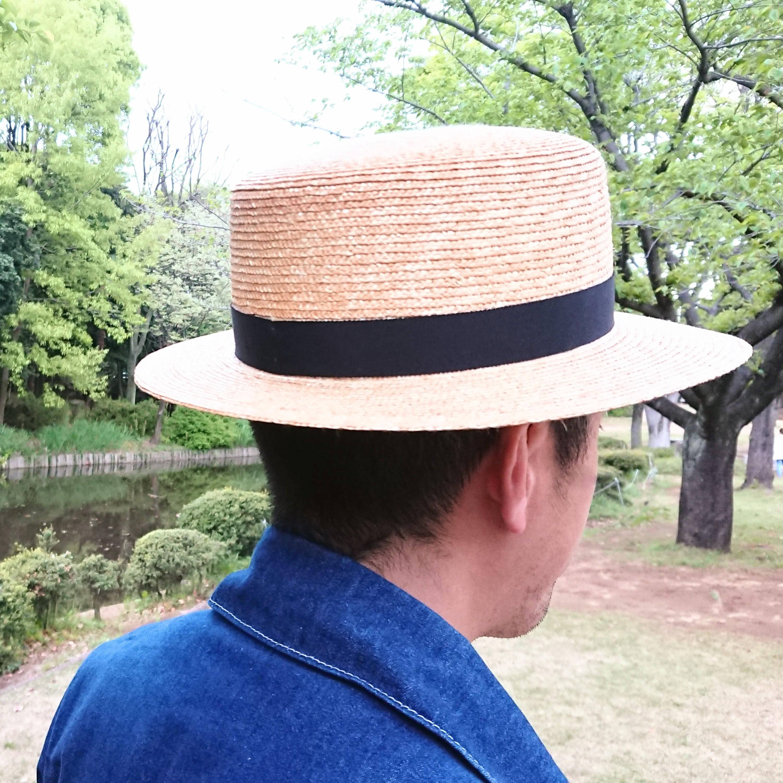 明治の頃の男性は、このカンカン帽をかぶることが外出時の正装だったことも。男子カンカン帽の復権望みます!