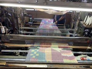 織りの様子