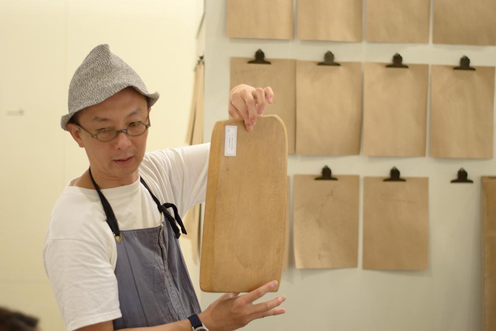 woodpeckerさんとは前日土曜日にまな板をつくるワークショップを実施しています。